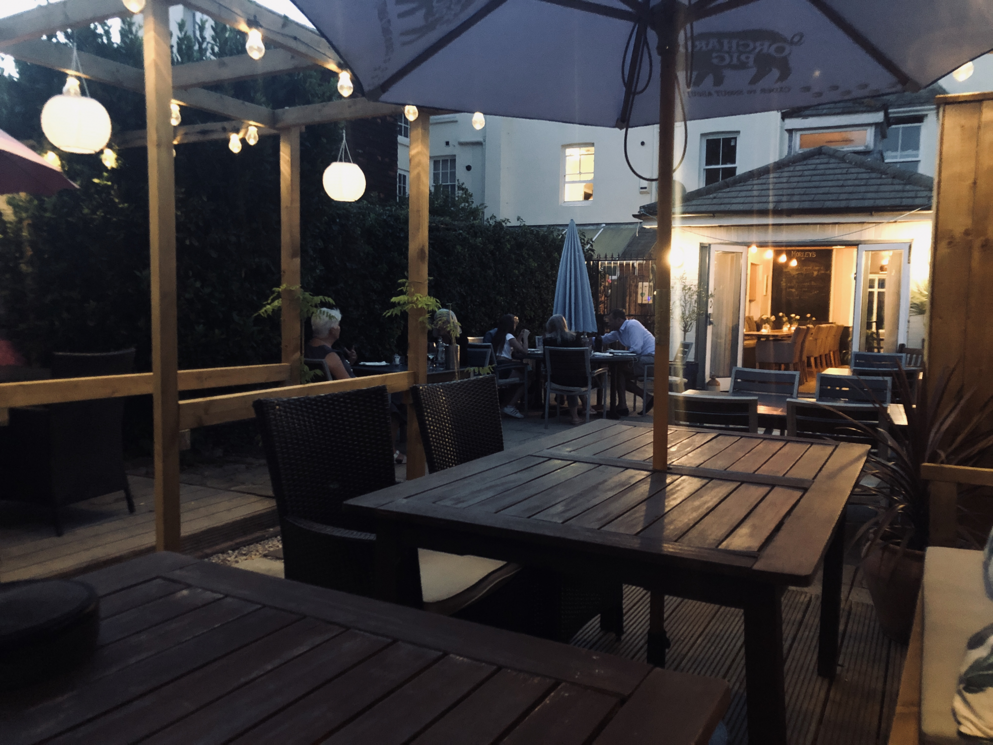 Outdoor Morleys Bistro Restaurant