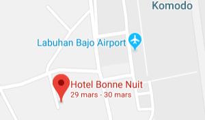 Localisation Hotel Bonne Nuit Komodo Flores